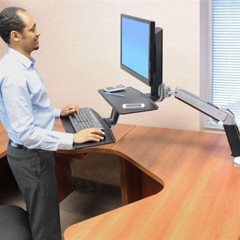 Ergotron Workfit A Sit Stand Suspended Keyboard Tray