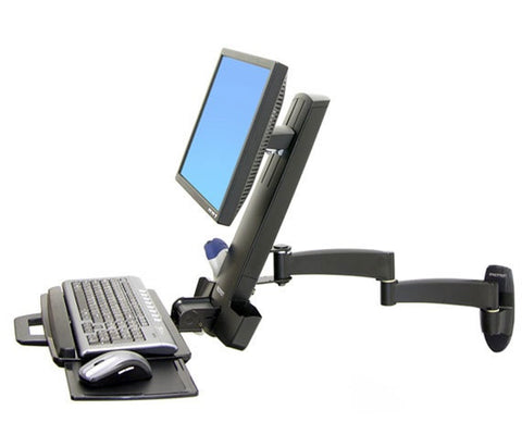 Ergotron 200 Series Wall Mount Keyboard & Monitor Arm 45-230-200