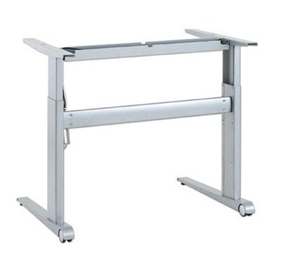 Conset 501 17 two leg sit stand electric height adjustable for Motorized standing desk legs