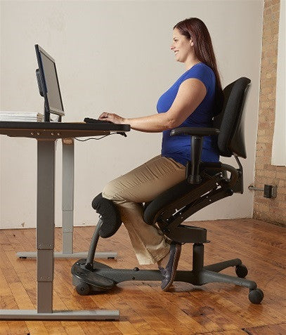 ... HealthPostures Stance Angle Sit To Stand Chair