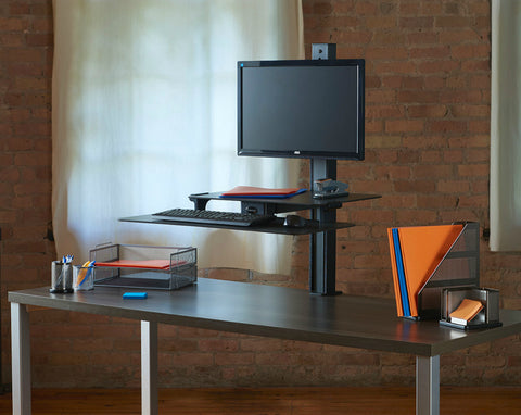 HealthPostures TaskMate Slide Desktop Sit-Stand Workstation