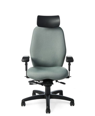 Office Master 7897 Paramount Extra Tall Adjustable Headrest Ergonomic Task Chair