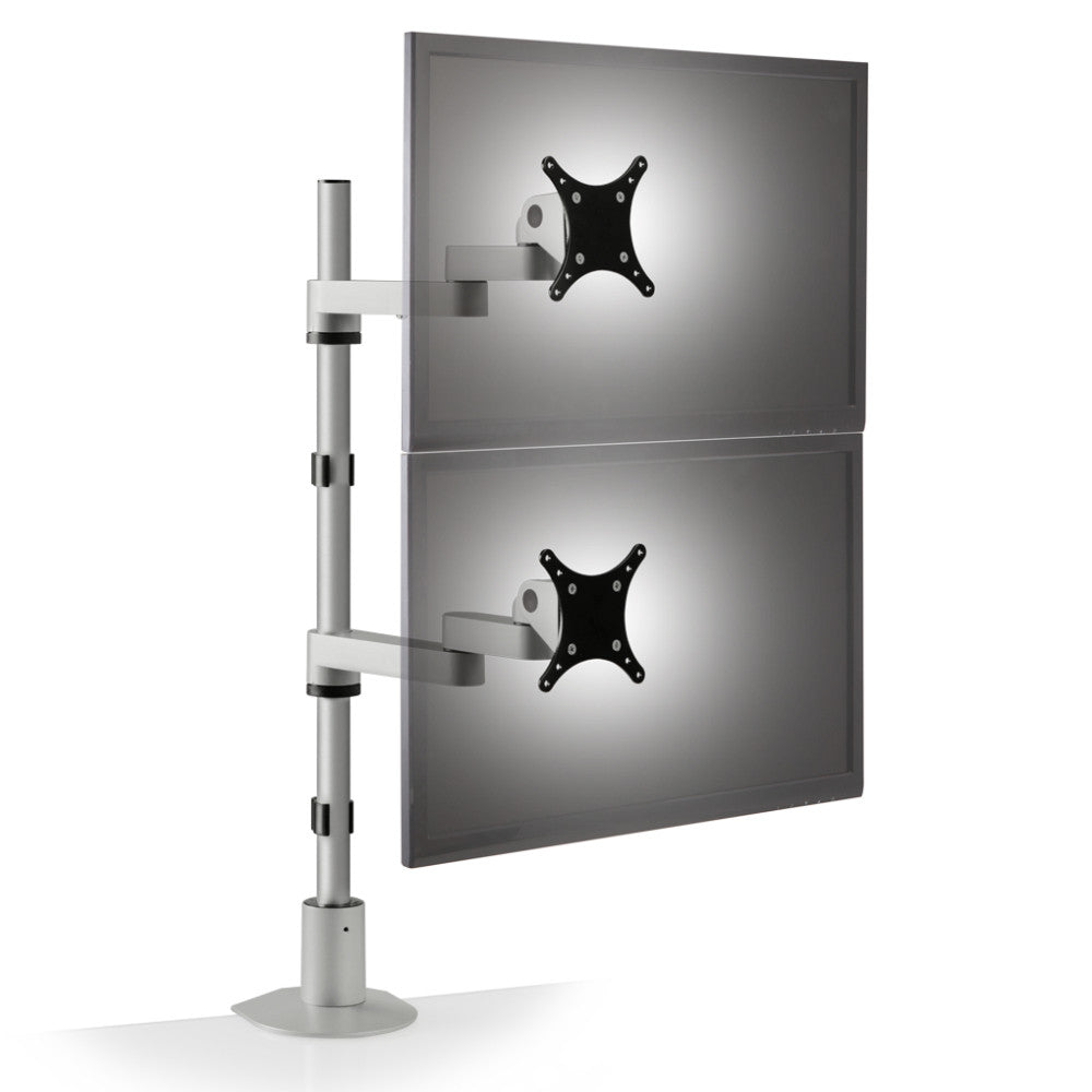 Innovative 9112 D Fm Articulating Dual Lcd Vertical Monitor Mount Ergo Experts