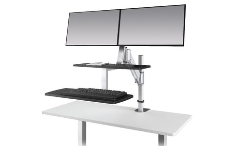 ESI ErgoRise Climb2 Dual Sit-to-Stand Workstation