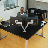 Workrite Conform Dual Articulating Monitor Arms - Open Box