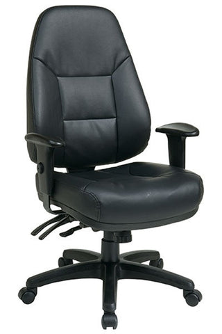 Multi-Function High Back Leather Chair