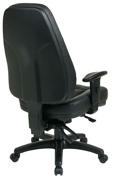 Multi Function High Back Leather Chair Ergo Experts