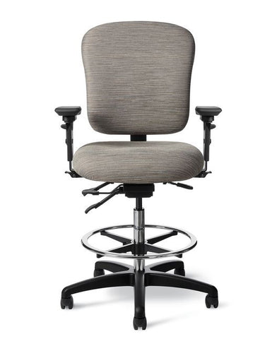 Office Master IU55 24-7 Intensive Use Mid-Back Drafting Stool