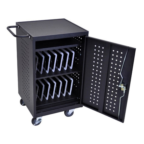 Luxor LLTM30-B 30 Tablet/Chromebook Charging Cart