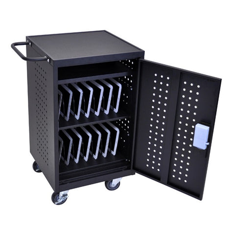 Luxor LLTM30-B-RFID 30 Tablet/Chromebook Charging Cart w/ RFID Reader