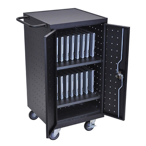 Luxor LLTP18-B 18 Laptop/Chromebook Computer Charging Cart