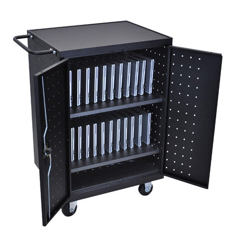 Luxor LLTP24-B 24 Laptop/Chromebook Computer Charging Cart
