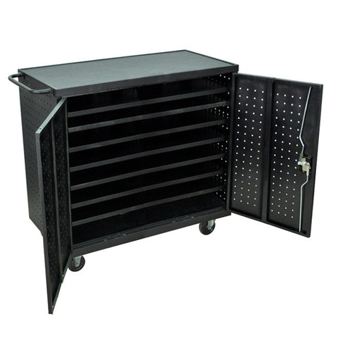 Luxor LLTS24-B 24 Laptop/Chromebook Computer Storage Cart