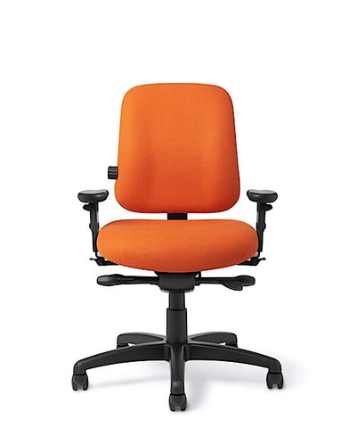 Office Master PT74-RV Paramount Low Back Adj. Lumbar Ergo Task Chair
