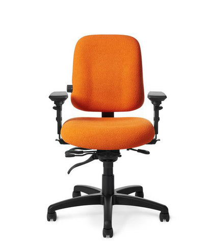 Office Master PT74 Paramount Low Back Adj. Lumbar Ergo Task Chair