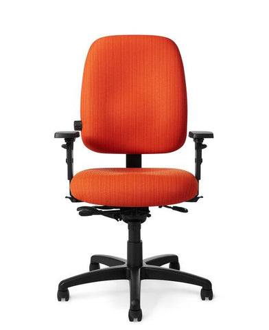 Office Master PT78 Paramount Mid-Back Adj. Lumbar Ergonomic Task Chair