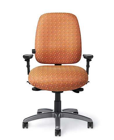 Office Master PTYM-RV Paramount Mid-Back Tall Adj. Lumbar Ergo Chair