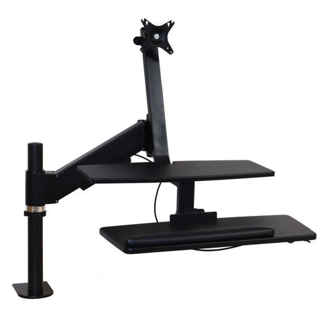 Intellaspace Desktop Sit Stand Pole Mount Workstation (Single/Dual Monitor)