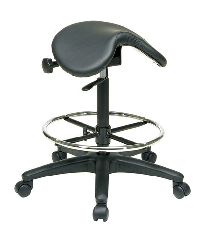 Ergonomic Drafting Saddle Seat Stool w/ Seat Angle Adjustment