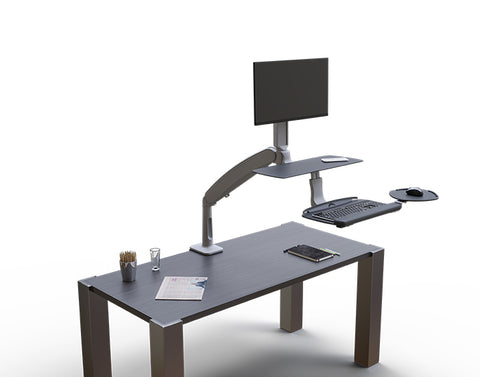 Solace 2 Sit-Stand Desk Converter by Workrite