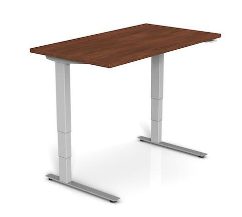 Symmetry Voyager No Crossbar 2 Independent Leg 3 Stage Electric Desk