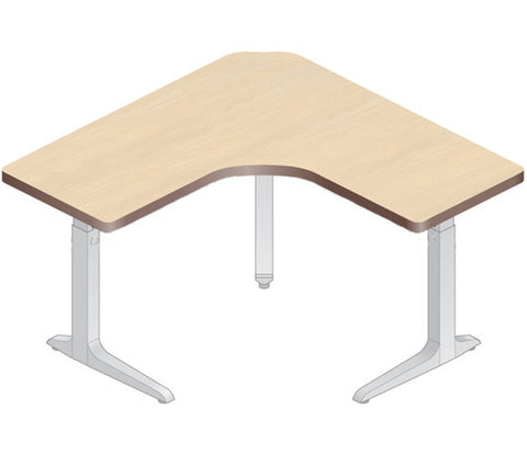 Workrite Sierra Equal Corner 3-Leg Electric Height Adjustable Desk