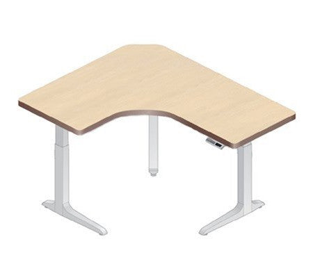 Workrite Sierra Offset Corner Right 3-Leg Electric Height Adjust Desk