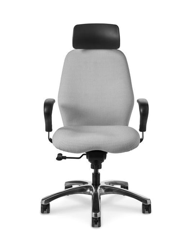Office Master Zesta ZA66 High-Back Synchronous Motion Contoured Executive Chair w/ Headrest