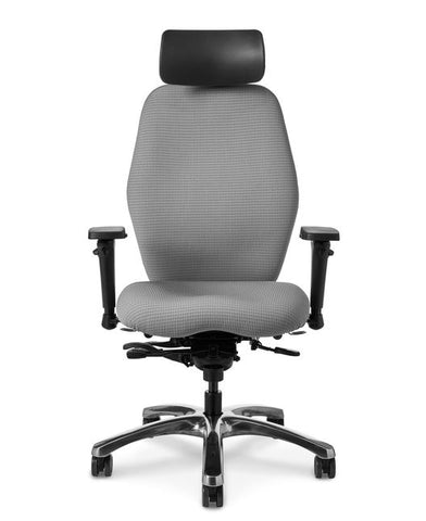 Office Master Zesta ZA98 High-Back Multi-Function Contoured Executive Chair w/ Headrest