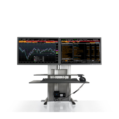 Innovative One-Touch Ultra Dual Monitor Sit Stand System