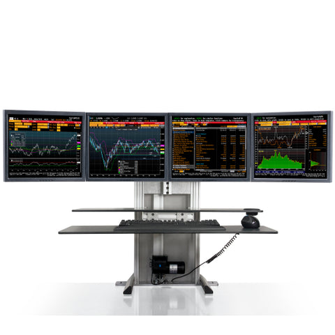 Innovative One-Touch Ultra Quad Monitor Sit Stand System