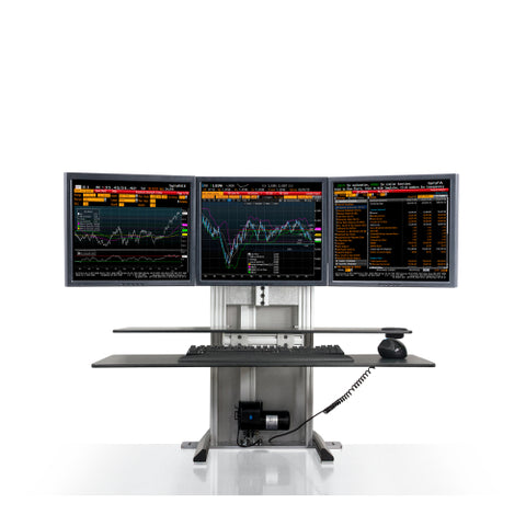 Innovative One-Touch Ultra Triple Monitor Sit Stand System