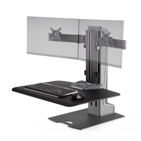 Innovative Winston-E DUAL Monitor Electric Sit-Stand Workstation