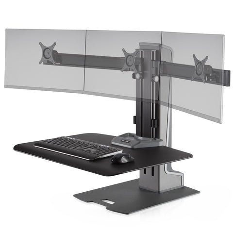 Innovative Winston-E TRIPLE Monitor Electric Sit-Stand Workstation
