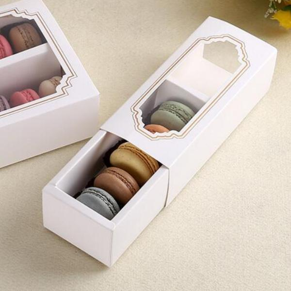 A Box fit 5 Macaroon with Clear Window