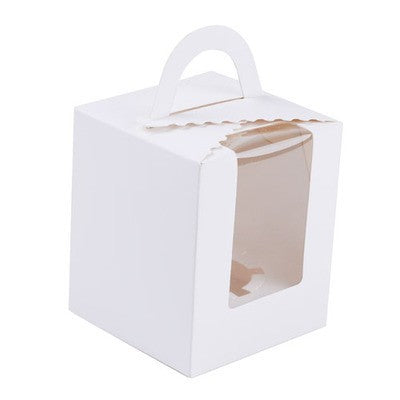 White Single Cupcake Boxes