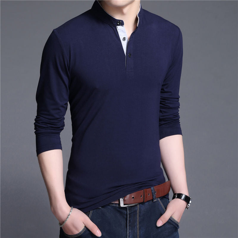 Navy Collar T-Shirt