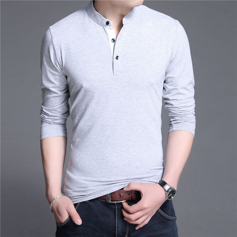 Gray Collar T-Shirt