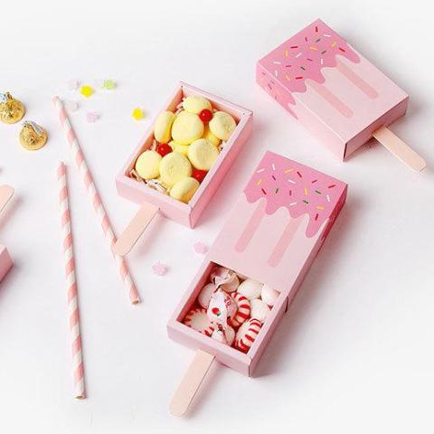 Pink Ice Cream Shape Boxes