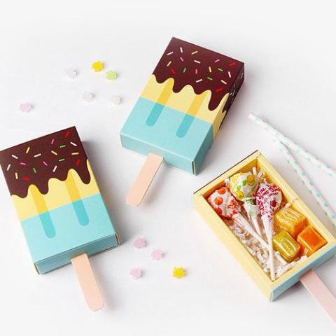 Blue Ice Cream Shape Boxes