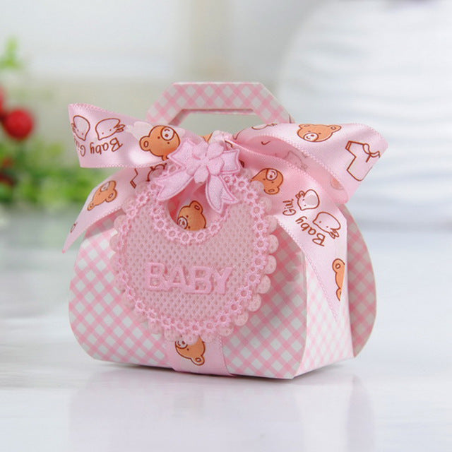 Pink Baby Shower Bear Boxes