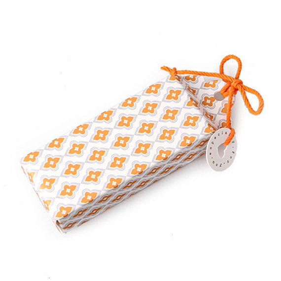 Orange Boxes with Ribbon + Tag