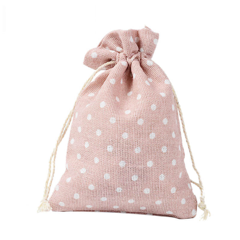 [PO] [WW] 50pcs Pink Dot Cotton Pouches