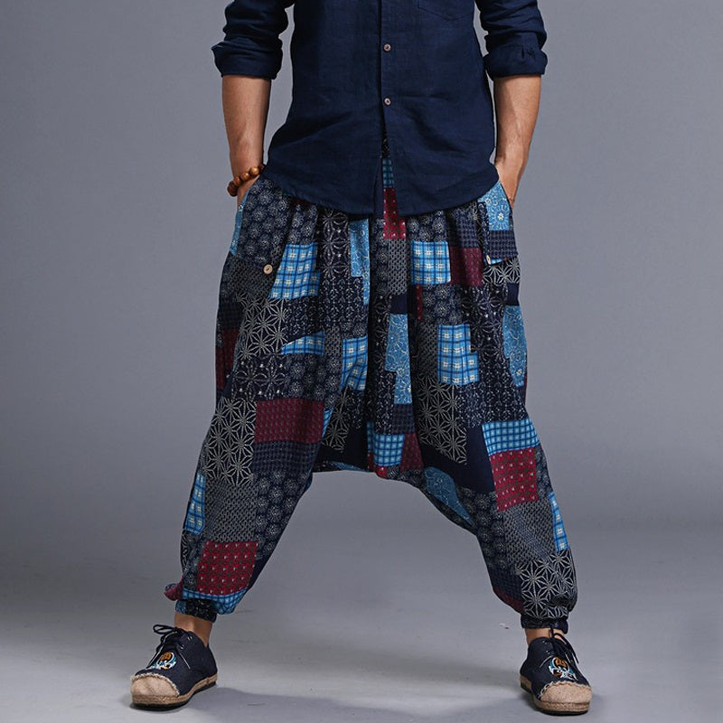 (M) D1 Patterns Loose Trousers