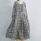 P01 Checkered Dress
