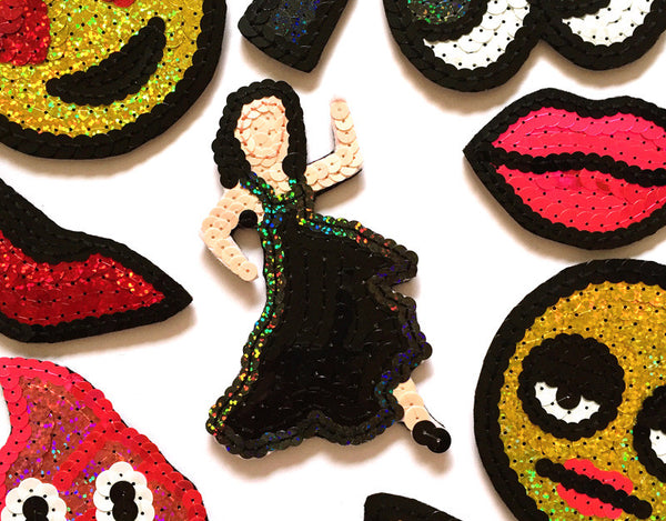 Custom Sequin Emoji Patches