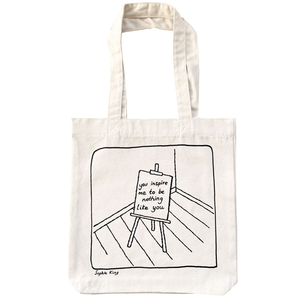 You inspire me to be nothing like you (tote bag)