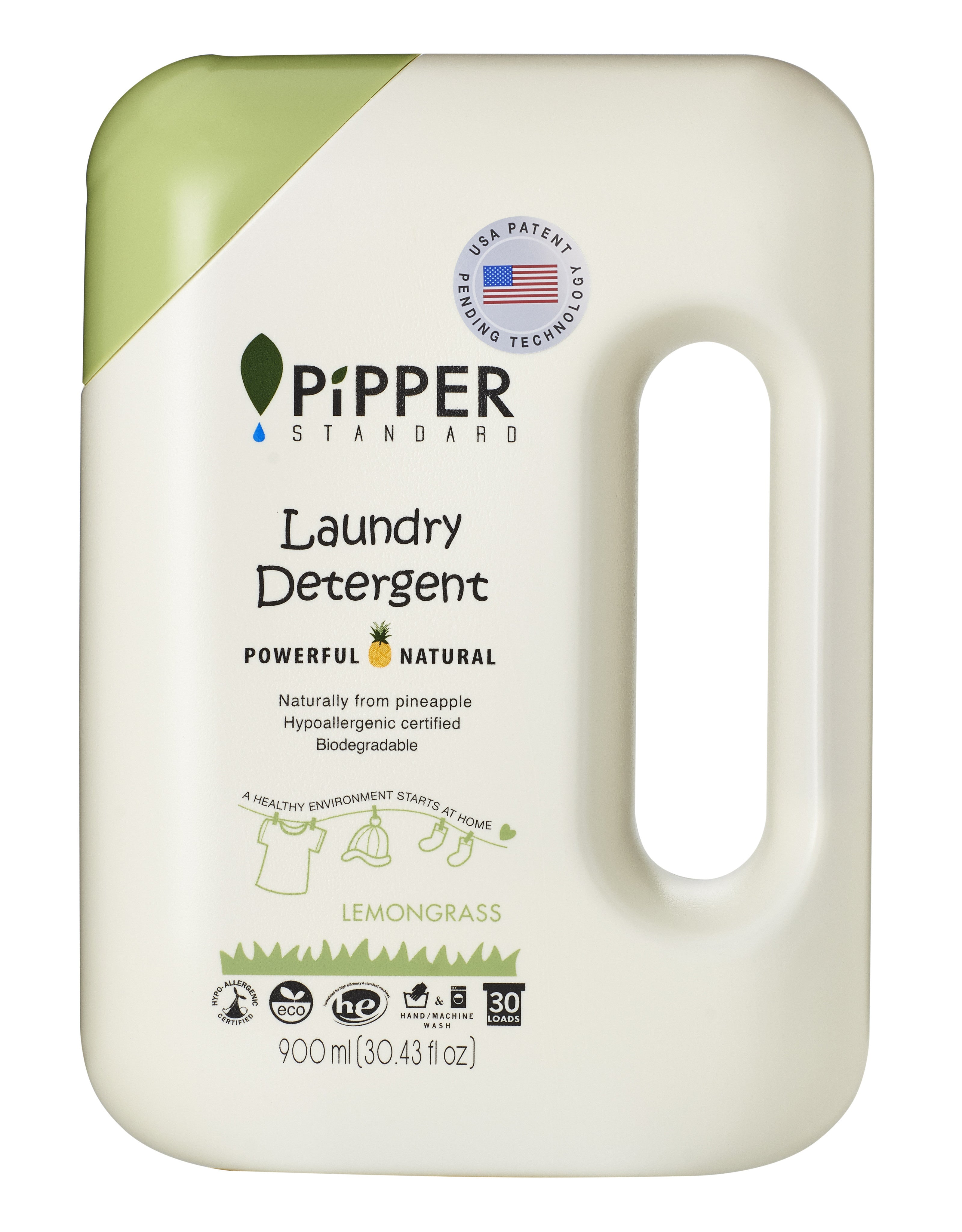 Pipper Standard Natural Laundry Detergent 900ml All