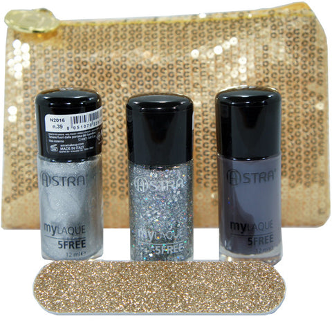 ASTRA NAILS DREAM SILVER GIFT SET - SMALTI 5FREE* E ACCESSORI PER UNGHIE - RossoLaccaStore