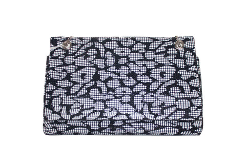 CLUTCH MACULATO BLACK/ WHITE